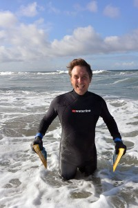 Greg Dahl body surfing at Ocean Park tower 26